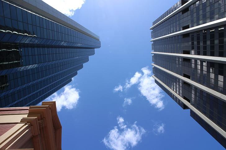 skyscraper, city, building, architecture, exterior, high