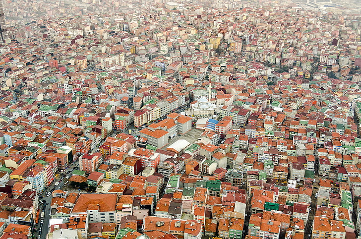 architecture, building, infrastructure, residences, aerial, view, city