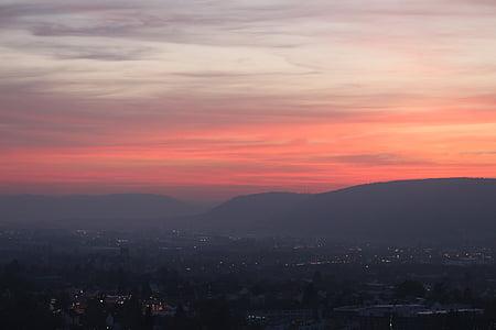 Afterglow, cel, posta de sol