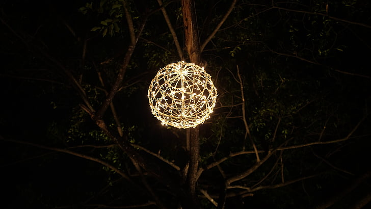tavaline, lamp, teenetemärgi, latern, Dekoratiivne, öö, valgustus