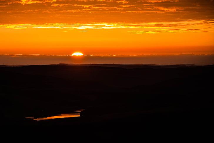 nascer do sol, mais cedo, nuvem, manhã, paisagem, natureza, paisagem de nascer do sol
