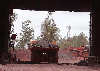 gruvdrift, järnmalm, Mine, transport, dumper, järn, mineral