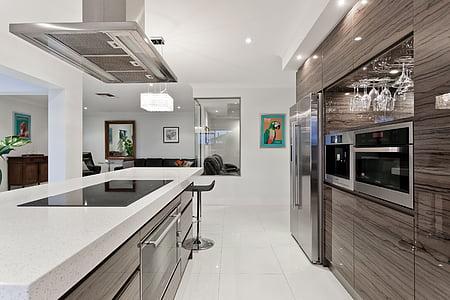 dineren, Entertaining, levensstijl, keuken, wonen, binnenlandse keuken, koelkast