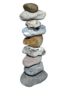 balance, meditation, stones, tower, stacked, isolated, relax