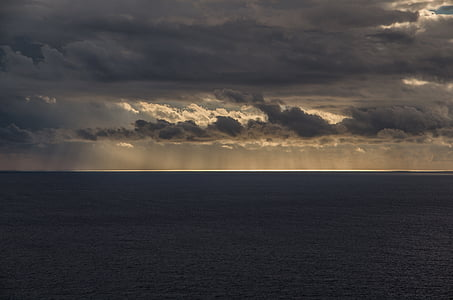 ทะเล, ดวงอาทิตย์, แสง, พระอาทิตย์ตก, แสงแดดและทะเล, ท้องฟ้า, เมดิเตอร์เรเนียน