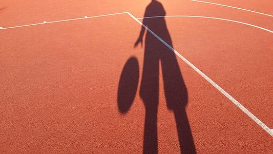 bàsquet, ombra, espai, terme, esport, l'aire lliure, en la