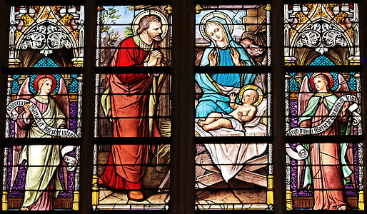 kerk venster, venster, kerk, Gebrandschilderd glas, glas, doorschemeren, Kleur