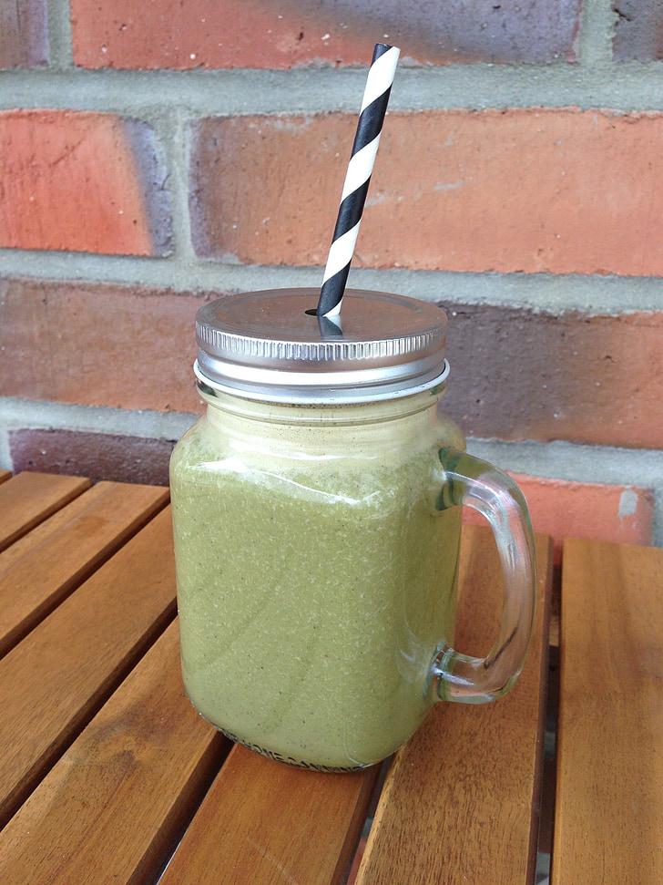 Zelené smoothie, zdravé, nápoj, na zdravie, smoothie, ovocie, Zelená