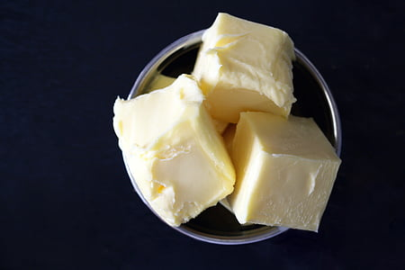 mantega, ingredient, groc, cuina, per coure, cuina, casolana