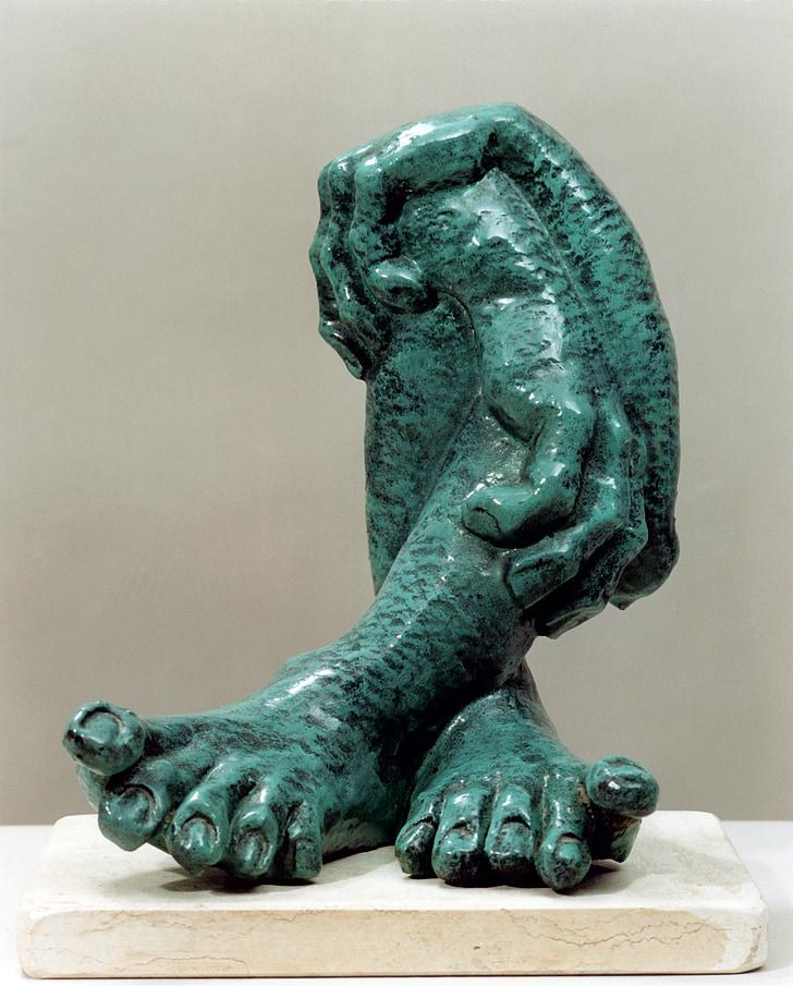 marble, feet, legs, hands, limbs, art, sculpture