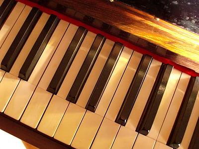 piano, ivory, keys, keyboard, sound, music, piano keyboard