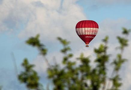 ballong, hotair, flyg, luftballong, Ballongflygning, korg, Sky