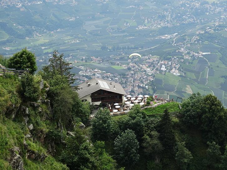 món de la muntanya, restaurant de muntanya, vista a la muntanya