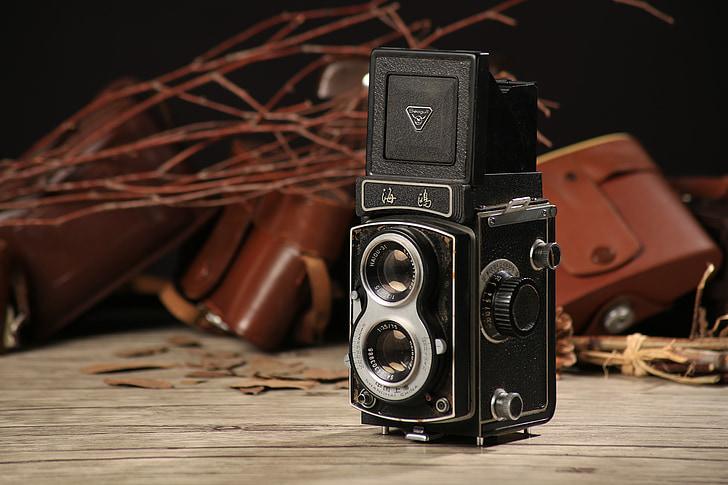 dvīņu objektīva reflekss kameru, mums attēlveidošana departamenta, veco dual kameru