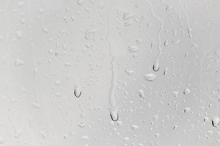 csepp víz, elfut, eső, ablak, Gyöngyös, esőcsepp, csepegtető