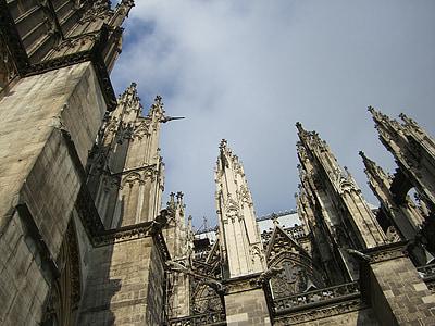 Cologne, Dom, mặt tiền, Nhà thờ Cologne cathedral, Landmark, địa điểm tham quan, Đài tưởng niệm