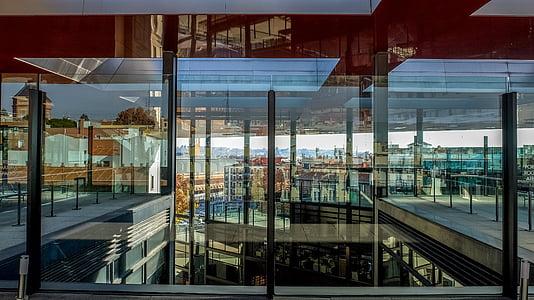 klaas, peegeldus, arhitektuur, kaasaegne, Madrid, akna, klaas - materjal