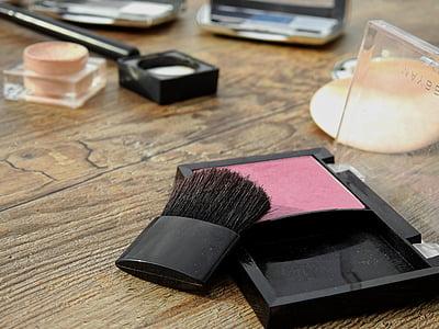 化妆品, 弥补, 化妆, 美, 颜色, 粉, 胭脂