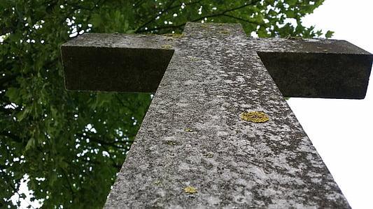 Cross, sten på tværs, mindesten, Steinmetz, grav, kirkegård, gravsten