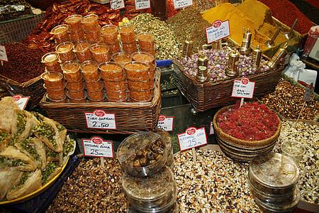 espècies, mercat, Istanbul, exòtiques, colors