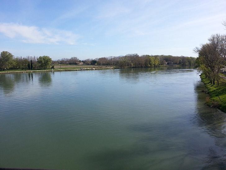 riu, Avinyó, França, tranquil, l'aigua