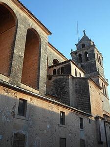 templom, Mallorca, hit, vallás, trutzig, Arches, építészet
