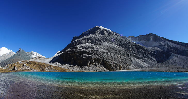 Tibet, el paisatge, Turisme, Llac, muntanya, paisatge, natura