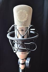 condenser microphone, estudio, music, sound, audio, corner, amplifier