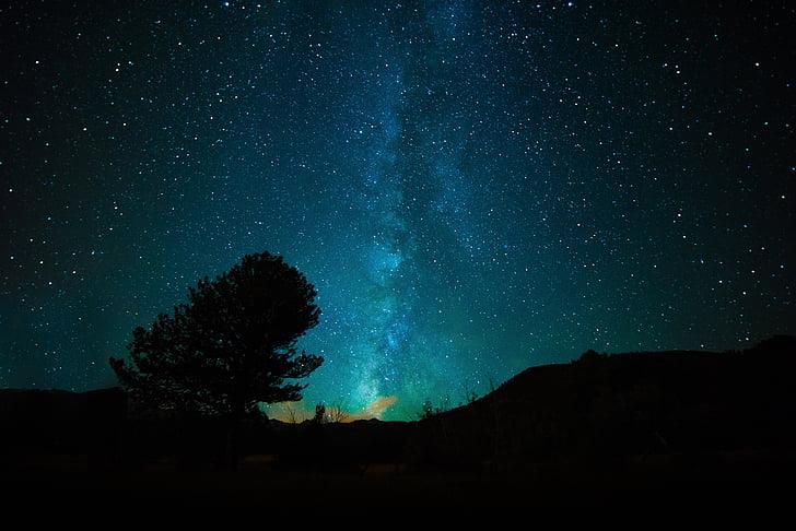 Bima Sakti, Galaxy, Ruang, alam semesta, astronomi, langit, malam