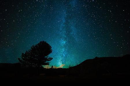 Via Làctia, galàxia, espai, univers, l'astronomia, cel, nit
