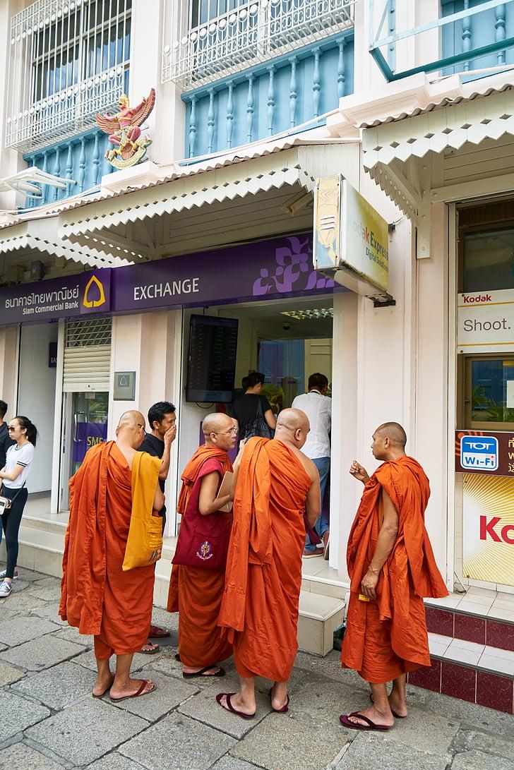 budistų, oranžinė, vyras, Budizmas, šventykla, Azijos, malda