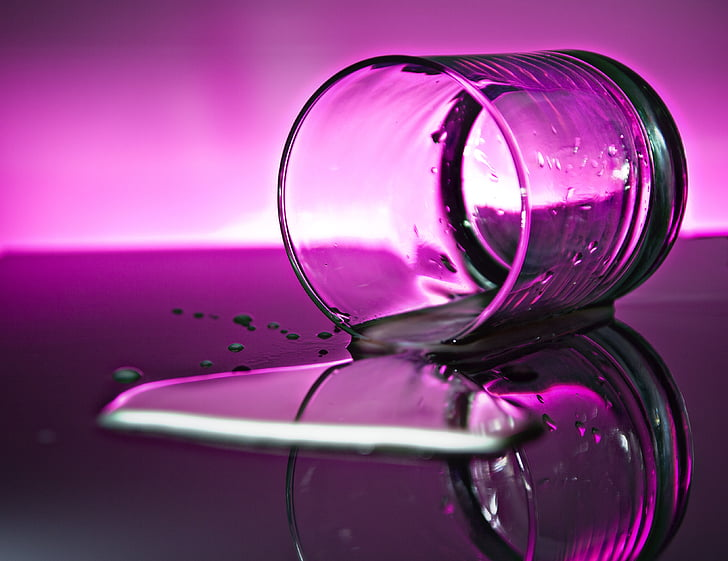 beguda, reflectint, beneficiar-se de, vidre, l'aigua, reflexió de vidre, reflexió