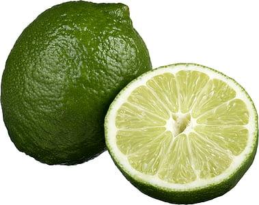 vapno, kriška limete, svježe, citrusa, kiselo, voće, pola