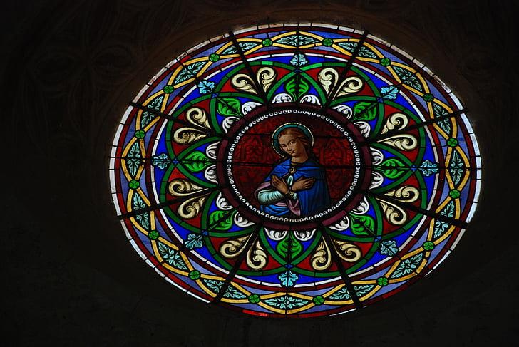 彩色玻璃, 玻璃, 教会, 宗教, 光, 窗口, 颜色
