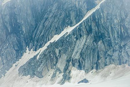 Alaska, Glacera de Mendenhall, muntanya, roques