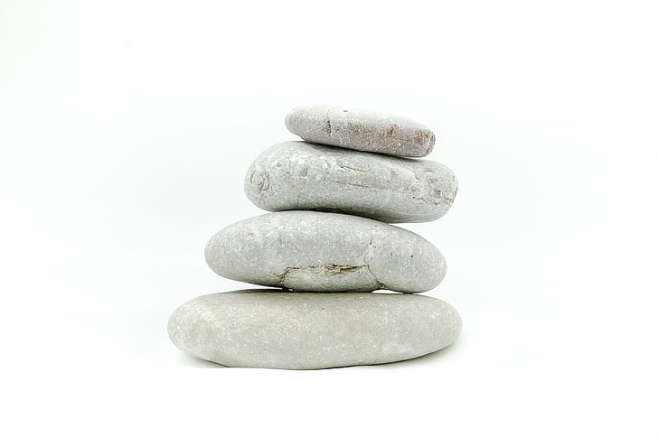 gray, pebbles, Stones, Stone, White, Background, Zen