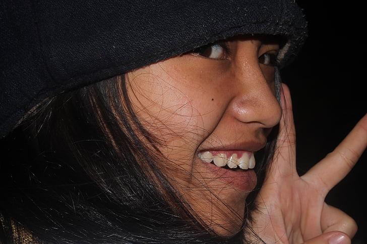 Indonezyjski-kobiety, uśmiech, z bliska