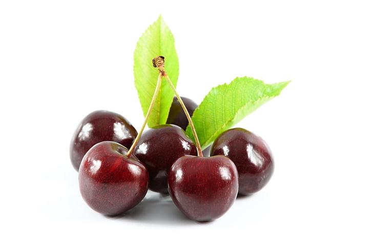 cerises douces, délicieux dessert, alimentation saine, fruits, cerises mûres, Jardin fruitier, santé