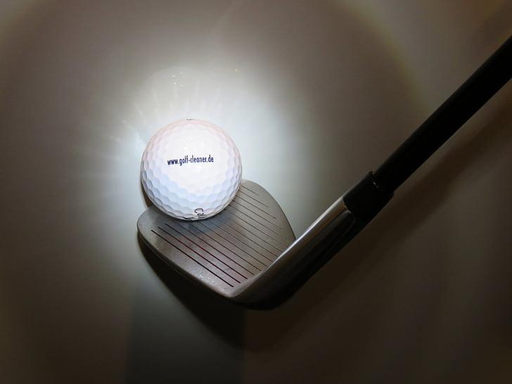 golf, radiant, golf ball, golf clubs, wedge