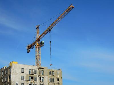 Grua, edifici, alta, Vantaa, finlandesa, per construir un, Windows