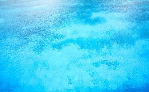 air, laut, Karibia, latar belakang, biru, pirus, riak