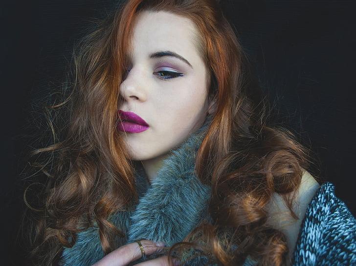 woman, portrait, face, beautiful, fashion, young, female