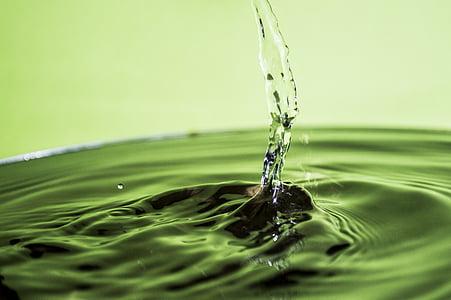 vode, kap vode, srebro, tekućina, odraz, mreškanje, kul