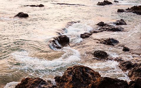 zee, Oceaan, water, golven, natuur, rotsen, Golf
