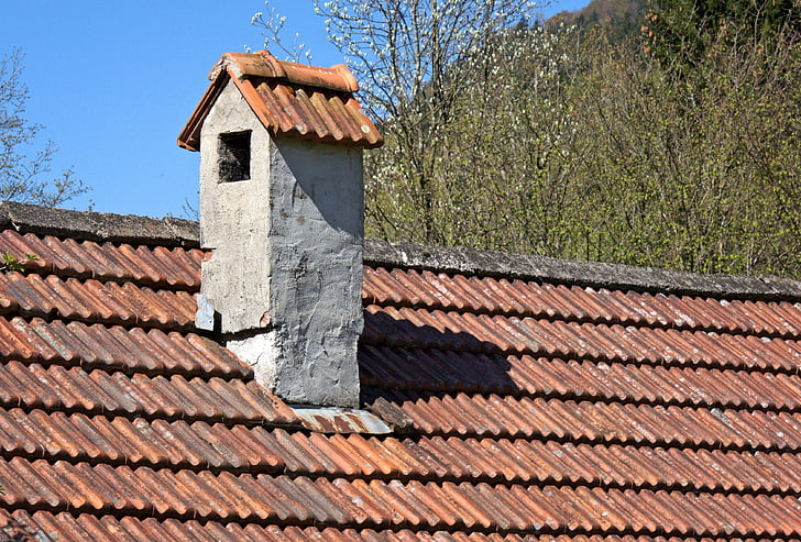 Free photo: house roof, brick, chimney, fireplace, architecture ...
