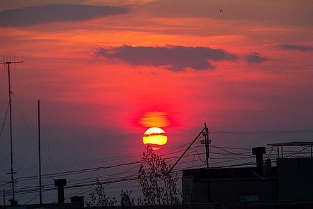 debesis, vakara debesis, saulriets, mākoņi