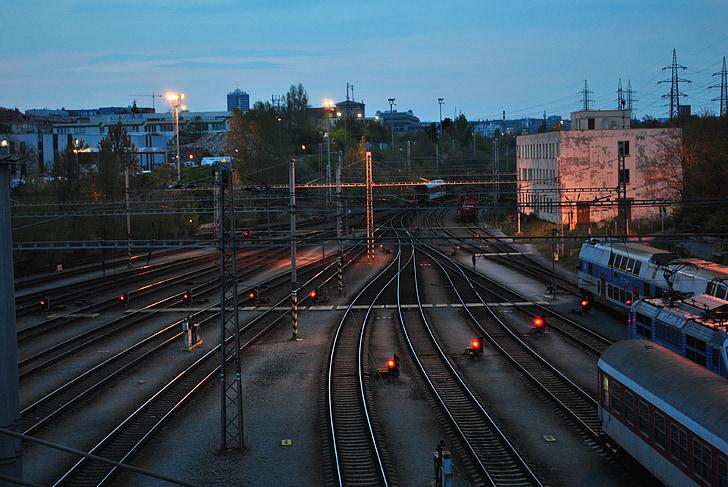 trens, pista, Vagó, vies del tren, vagó de tren, l'estació de, ferrocarril