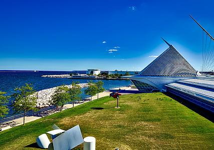 Milwaukee, Wisconsin, Kunstimuuseum, Landmark, Vaatamisväärsused, Turism, maastik