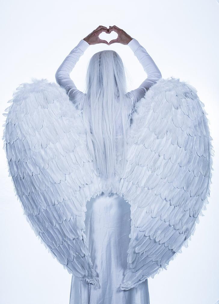 Angel, siivet, Tyttö, nainen