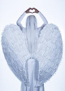 Anděl, křídla, Děvče, Žena